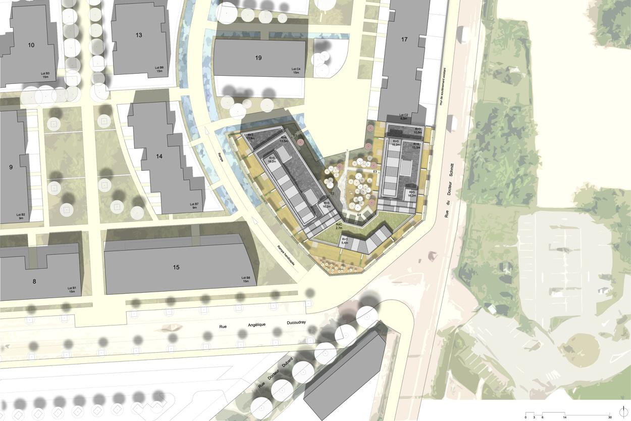 Eco quartier hyacinthe vincent lot c3 i 60 logements i for Dijon architecture