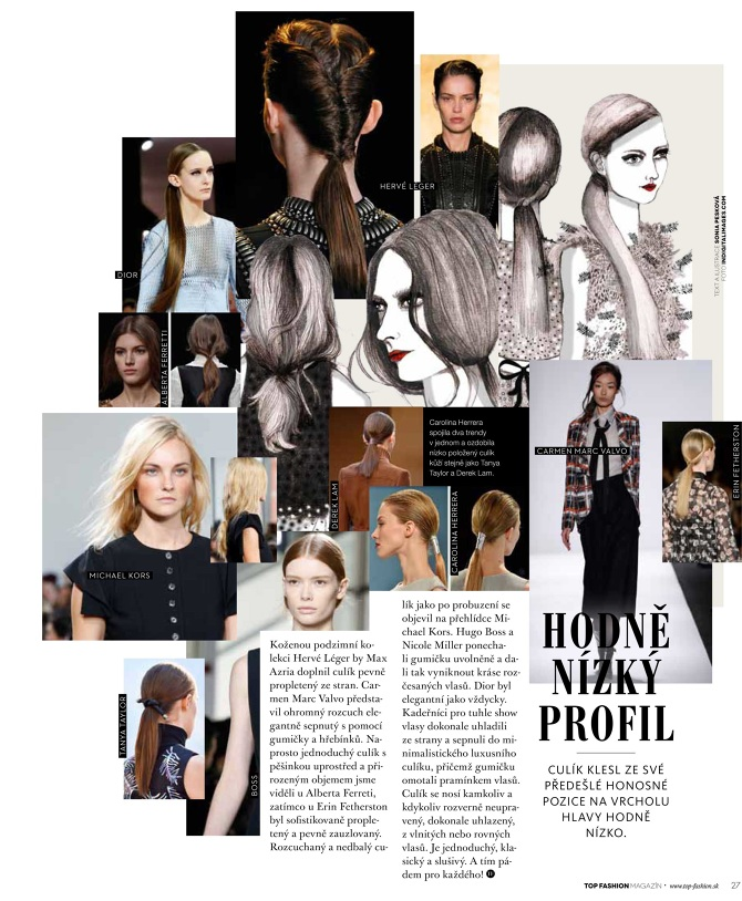 Autumn And Winter Issue Of The Top Fashion Magazine 2015 3 Pages Hair Trends With Articles Illustrations Creative Writing About